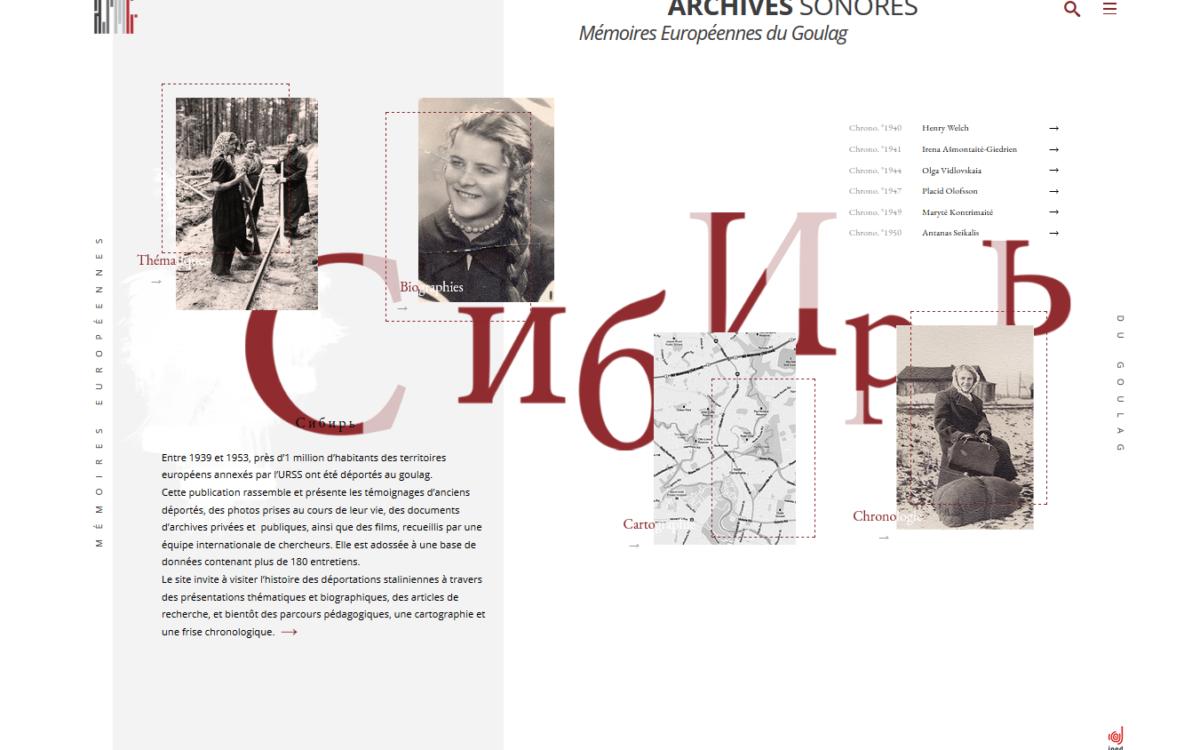 Archives sonores – mémoires européennes du Goulag